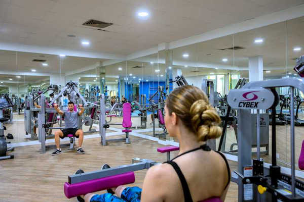 Fitness area at  Leonardo Plaza Cypria Maris Beach Hotel & Spa.